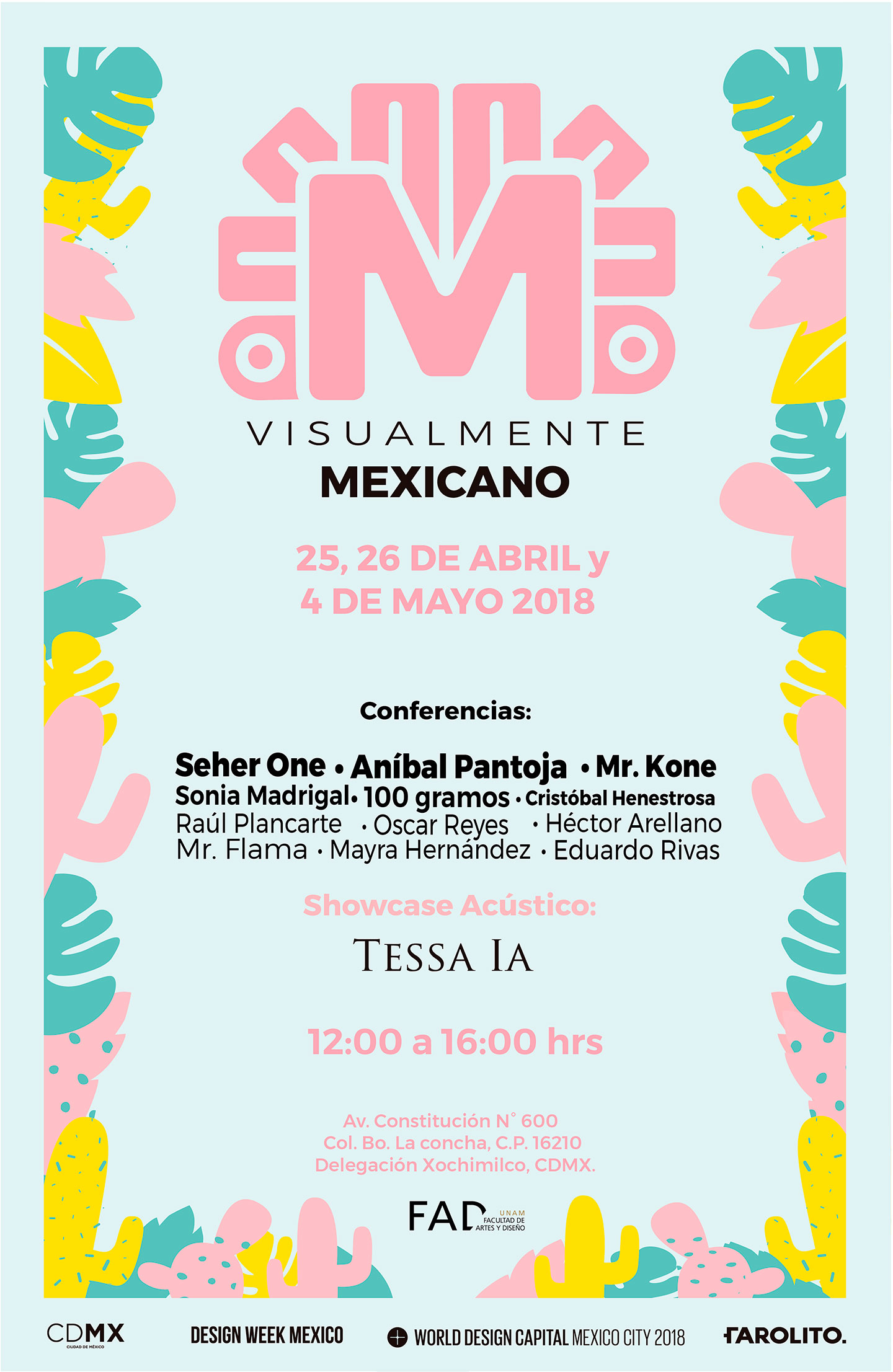 Cartel de visualmente mexicano 2018