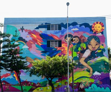 Mural de niños Eva Bracamontes