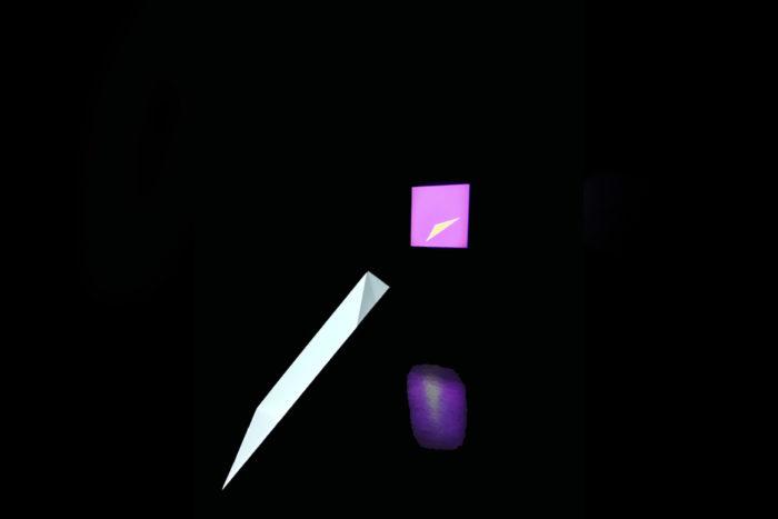 Papel y Cubo Exhibicion Violeta Horcasitas