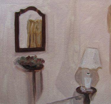 pintura espejo y lampara