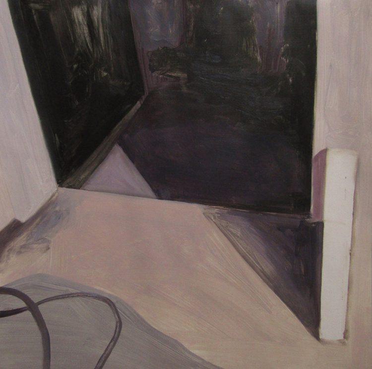 puerta oscura pintura