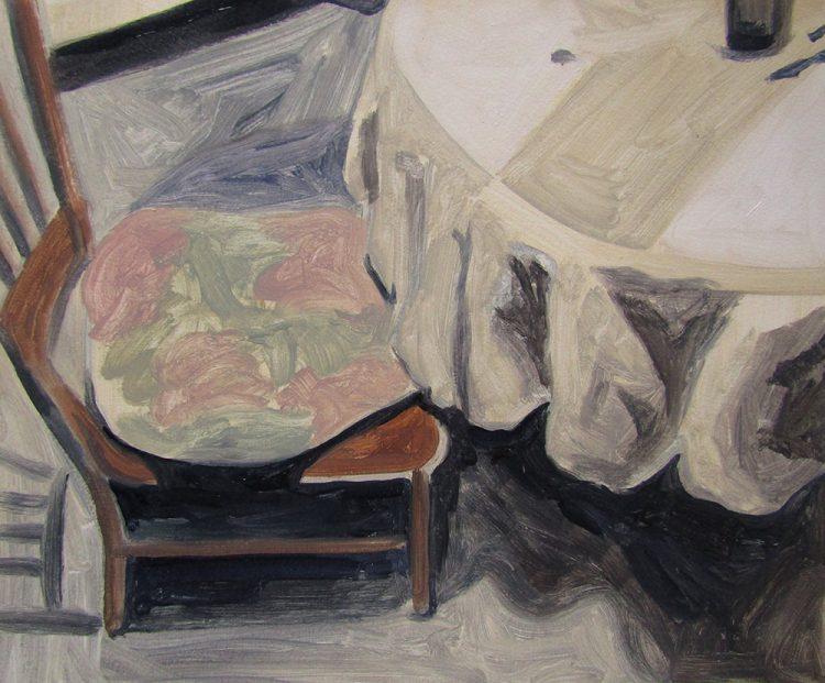 silla y cojin pintura