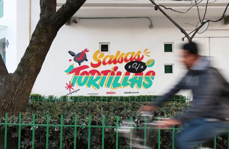 "Mural Mundet ""Salsas y Tortillas"", Rebeca Anaya, Farolito"